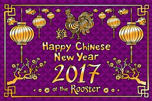 vector Happy Chinese new year 2017
