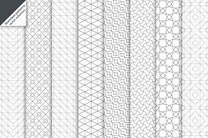 Modern linear seamless backgrounds