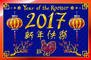 2017 New Year vector chinese