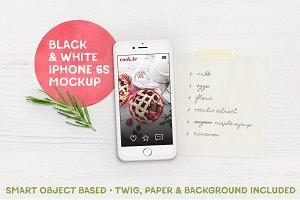 Black & White iPhone 6s™ Mockup