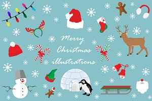 Christmas illustrations 50% OFF