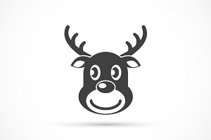 Reindeer christmas icon