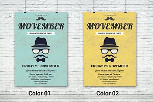 Movember Mustache Party Flyer-V420