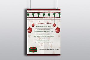 Christmas Menu Template-V421