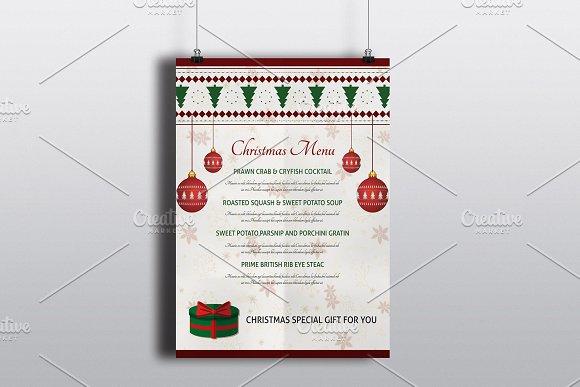 christmas menu template v421 flyer templates creative market