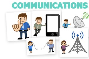 60+ Communication Vector cartoons