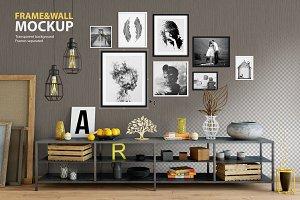 Frame & Wall Mockup 06