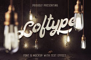 Loftype Font + Mockup