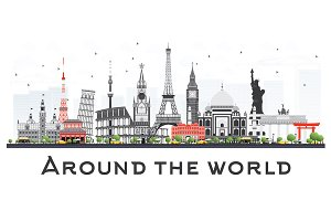 Travel Concept Around the World
