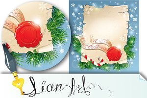 Christmas greeting magic scroll
