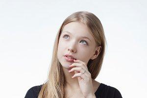 very beautiful girl portrait