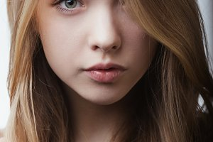 very beautiful girl portrait