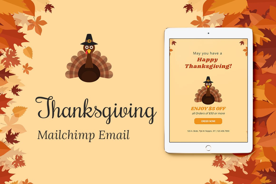 mailchimp calendar template - happy thanksgiving email templates gallery template