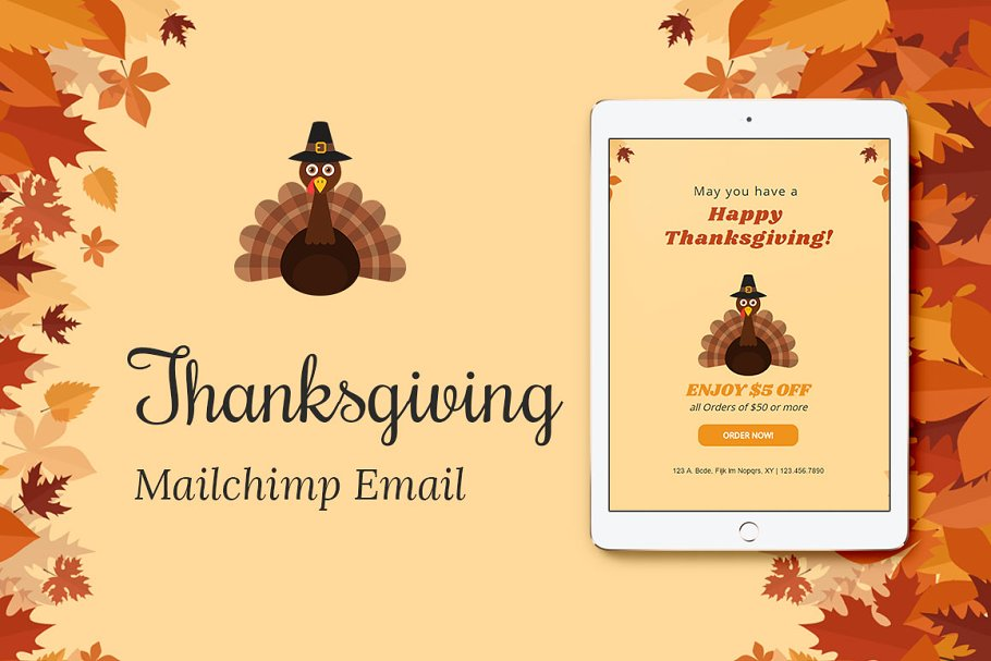 Thanksgiving Mailchimp Eblast in Mailchimp Templates - product preview 8