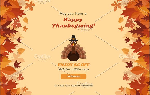 Thanksgiving Mailchimp Eblast in Email Templates - product preview 1