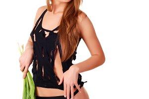 l woman in lingerie