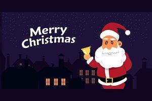 Vector Illustration of Santa Claus.