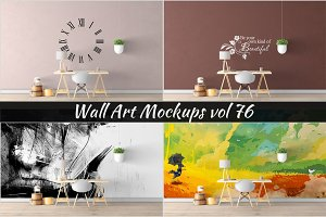 Wall Mockup - Sticker Mockup Vol 76