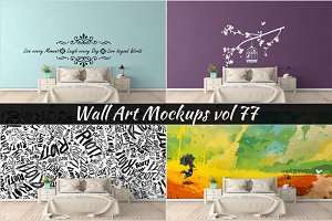 Wall Mockup - Sticker Mockup Vol 77