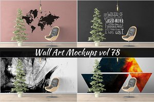 Wall Mockup - Sticker Mockup Vol 78
