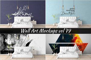 Wall Mockup - Sticker Mockup Vol 79