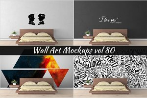 Wall Mockup - Sticker Mockup Vol 80