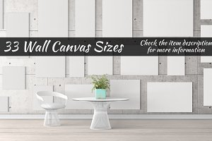 Canvas Mockups Vol 27