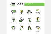Business Training - Line Icons Set