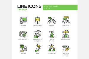 Business Training - Line Icons Set