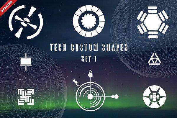 Photoshop Shapes - Tech Custom Shapes Set 1