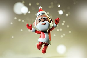 3D happy Santa Claus