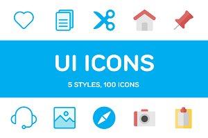 600+ UI Icons