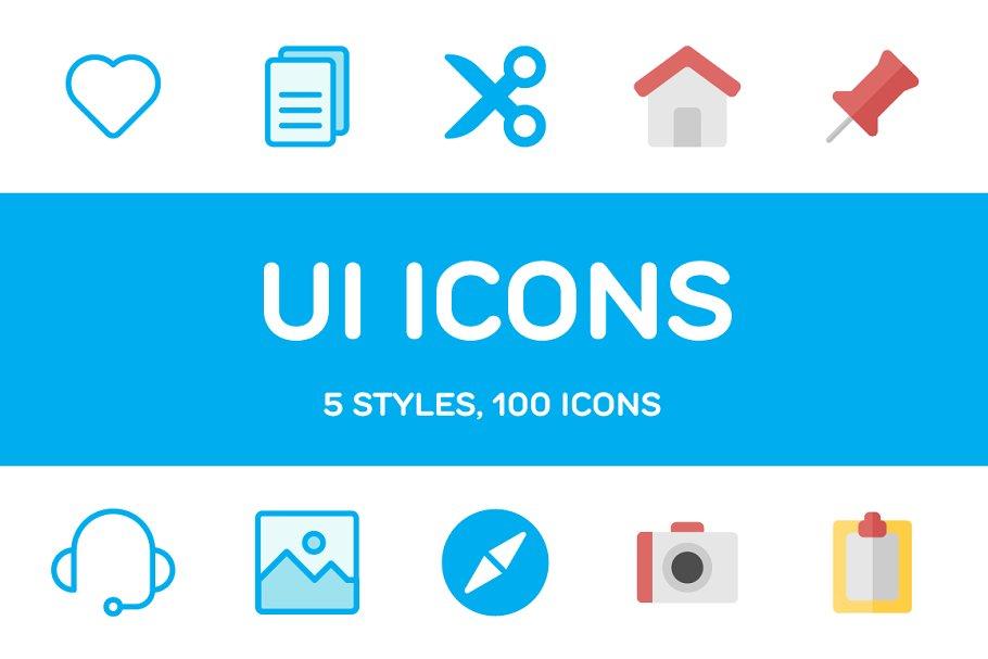 600+ UI Icons ~ Icons ~ Creative Market