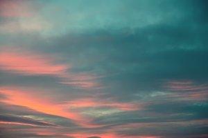 cyan sky.