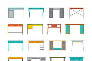 Set of office tables