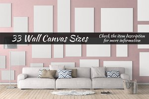 Canvas Mockups Vol 28