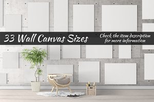 Canvas Mockups Vol 29