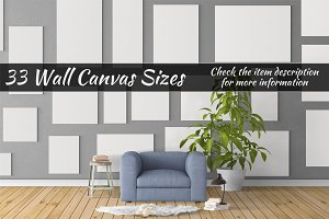 Canvas Mockups Vol 30