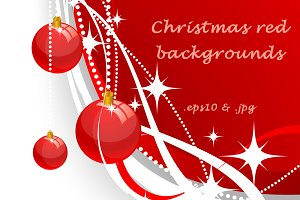 Christmas red backgrounds