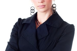 businesswoman in black suit
