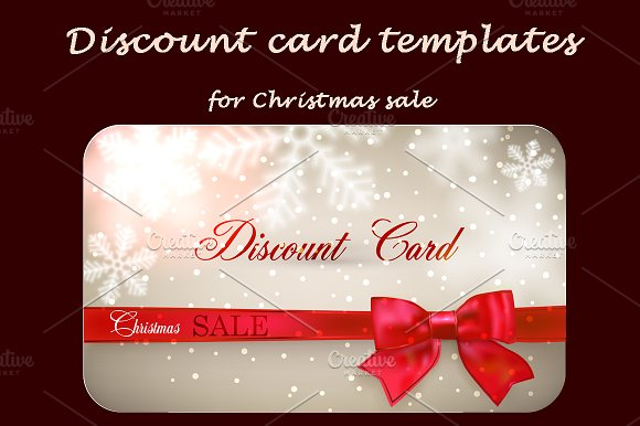 discount cards for christmas sale cards