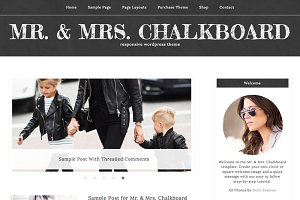 Mrs. Chalkboard WordPress Theme