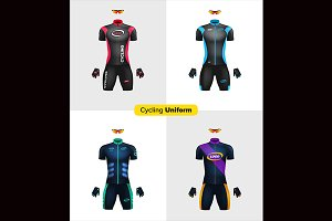 Realistic vector cycling uniforms.