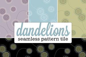 Seamless Pattern: Funky Dandelion