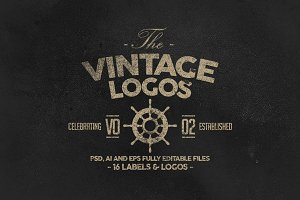 Retro Badges, Labels & Logos Vol.2