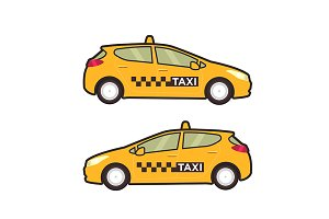 Taxi car icon.Pop art style.