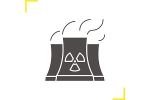 Nuclear power plant icon. Vector