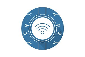Wifi spot icon. Vector