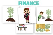 50+ Finance & Money Concept Cartoons