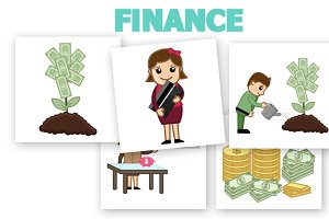 50+ Finance & Money Concept Cartoons